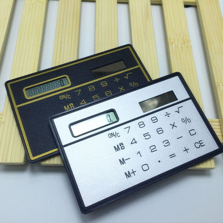 High Quality Mini 8 Digits Slim Credit Card Solar Power Pocket Calculator