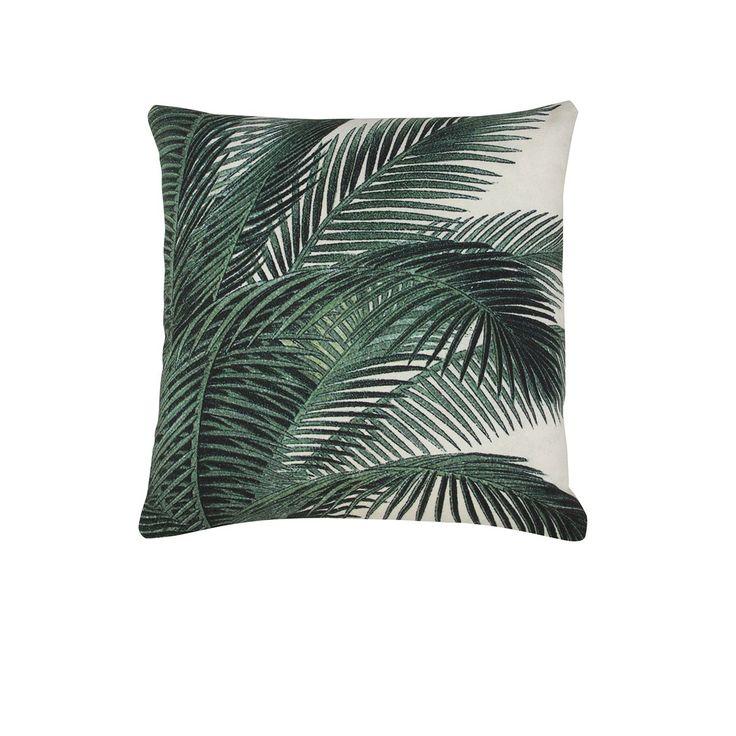 coussin imprim feuilles de palmiers palmiers foug res. Black Bedroom Furniture Sets. Home Design Ideas