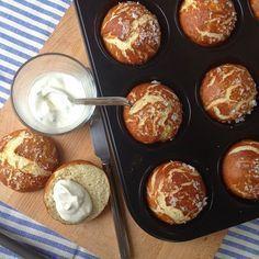Rezept: Laugenmuffins in der muffinform selbst backen. Muss ich auch mal versuchen