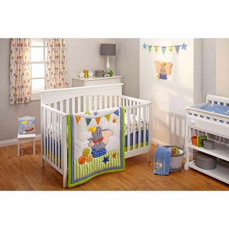 Disney Baby Bedding Dumbo 3-Piece Crib Bedding Set, now at Walmart