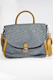Calvin Klein Jeans Torebka Denim Jaquared Satchel – Blue