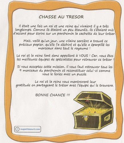 CHASSE AU TRESOR
