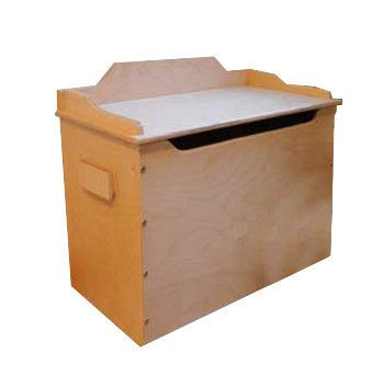 White Wooden Toy Box with Seat