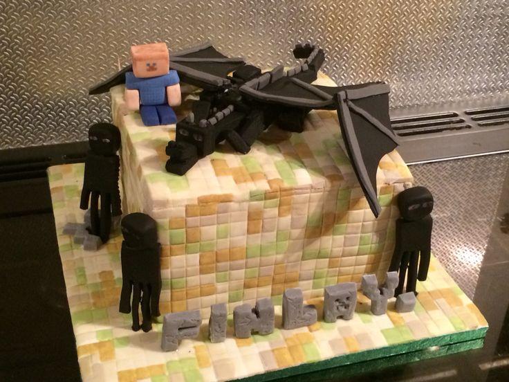 Minecraft Ender Dragon Cake For Finlays 10th Birthday