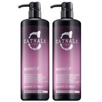 TIGI Catwalk Headshot Tween Set: Reconstructive A shampoo and conditioner twin set designed especially for chemical treated hair. Crafted with a powerful emulsion of glycerol and amino acid, it targets the areas of the hair most in need of repair f http://www.MightGet.com/january-2017-13/tigi-catwalk-headshot-tween-set-reconstructive.asp