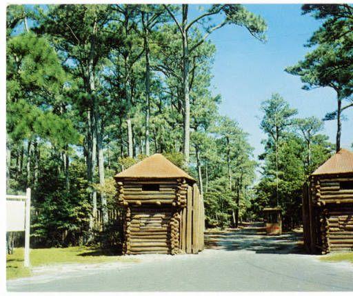 Entrance to Fort Raleigh National Historic Site on Roanoke Island, Near Manteo, N.C. :: North Carolina Postcards