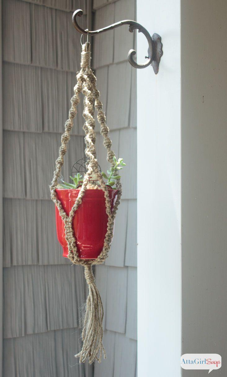 How To Make A Super Easy Diy Macrame Plant Hanger Plant