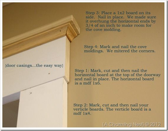 How to add casing/molding to doorways. I've been looking for a tutorial like this!