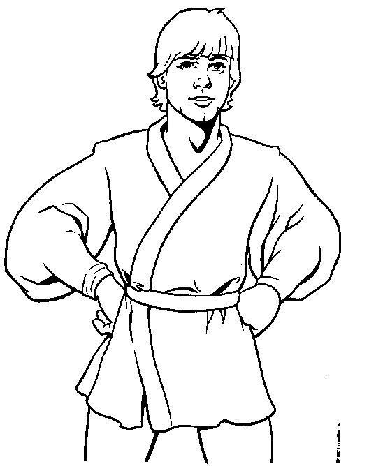 179 b sta bilderna om m larbilder star wars p pinterest for Luke skywalker coloring page