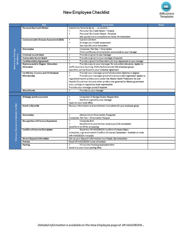 New hire employee checklist - Download this Onboarding process - access request form