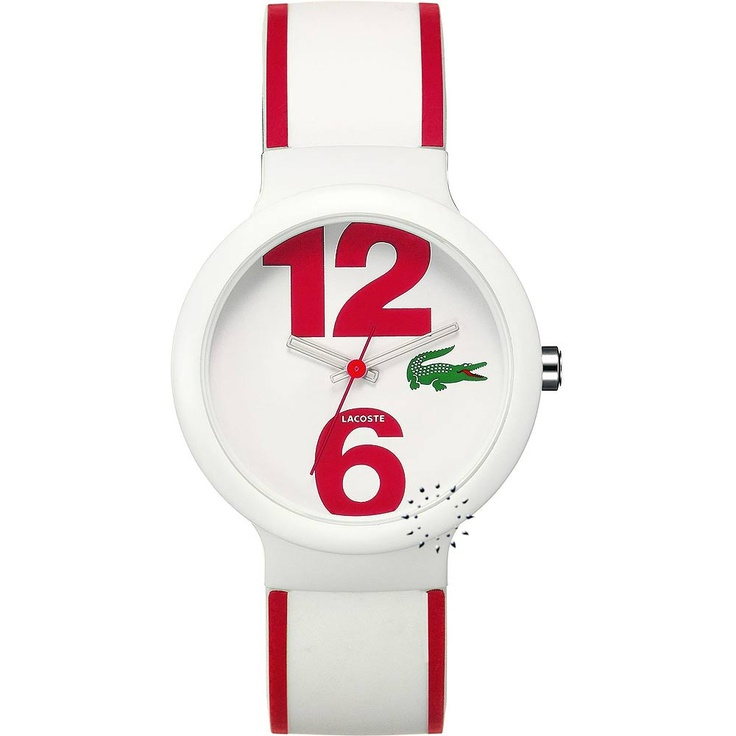 LACOSTE Goa Red and White Rubber Strap Μοντέλο: 2010544 Η τιμή μας: 59€ http://www.oroloi.gr/product_info.php?products_id=23242