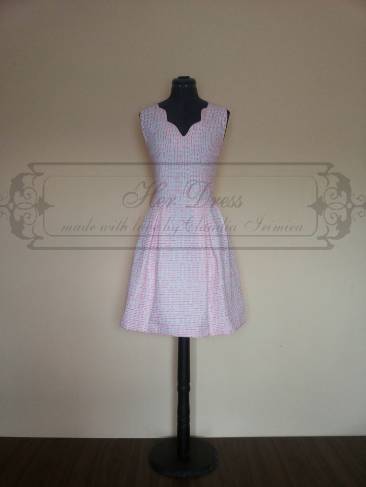 Pink, White and Orange Sweet Candy Dress by HerDressByClaudia on Etsy