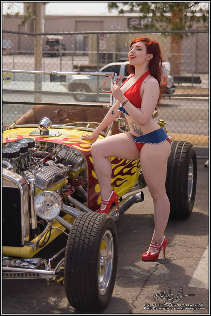 pin up models with hot rods hotties pinterest beautiful pictures and car girls. Black Bedroom Furniture Sets. Home Design Ideas