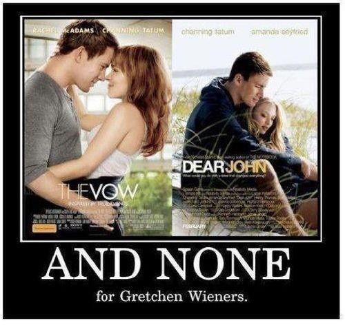 phahahahah 3 for you Glenn Cocoa, you go Glenn Cocoa!!..and none for Gretchen Wieners: Giggle, Poor Gretchen, Meangirls, Mean Girls, Funny Stuff, Movie, Things, Gretchen Wieners