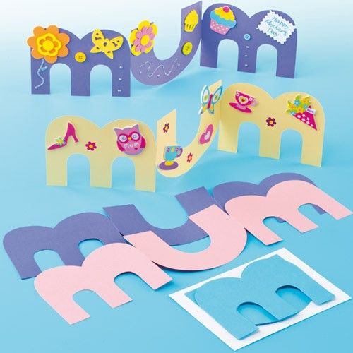 MUM Greeting Card Blanks - a fun kids craft for Mother's Day!