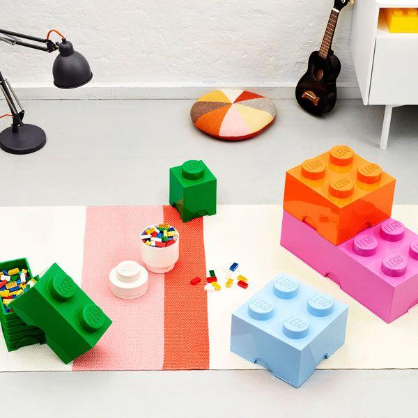 Room Copenhagen Lego Storage Brick 8, medium pink | Storage | Decoration | Finnish Design Shop