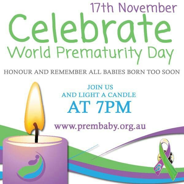 World prematurity day. Lught a candle at 7pm