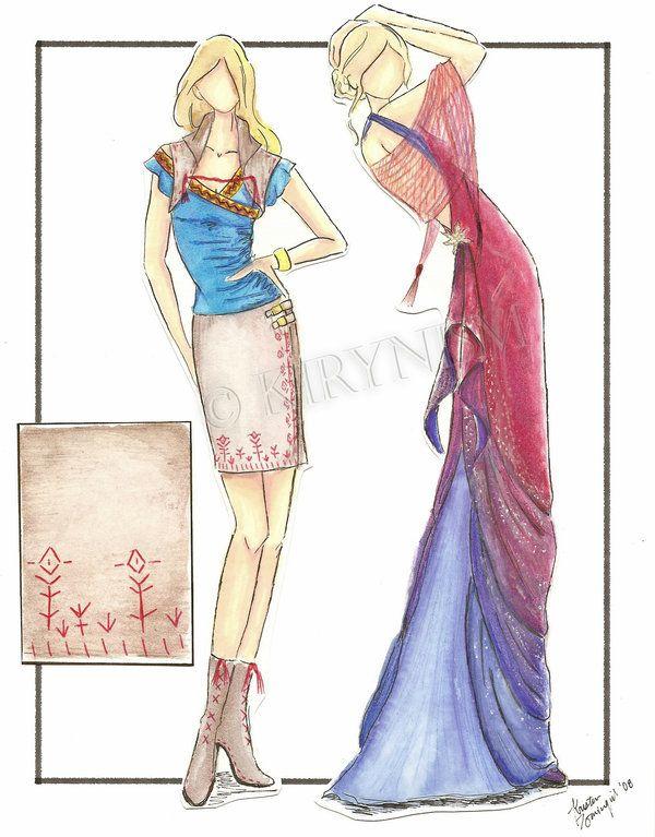Fashion Pencil Sketches   Fashion Sketches 1 by ~Kirynism on deviantART