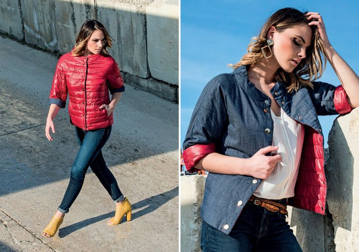 Today we propose an exclusive eider-down! Polished, female and adaptable, this jacket is a perfect fellow for your look!  #jacket #eiderdowns #downjacket #women #girl #newcollection #spring #summer #fashion #fashionstyle #italianstyle #fashionwoman #cool #clothes #jackets #musthave #sporty #reversible #girl #white #red #jeans #pinterest #followus