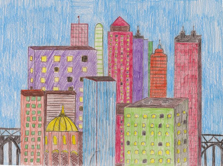 how to draw a cityscape for a novel