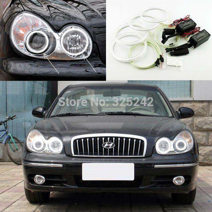For Hyundai Sonata 2002 2003 2004 2005 Excellent Ultra bright headlight illumination CCFL Angel Eyes kit