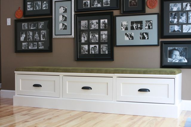This is site has a lot of great ideas!  Drawer bases turned banquette | Do It Yourself Home Projects from Ana White