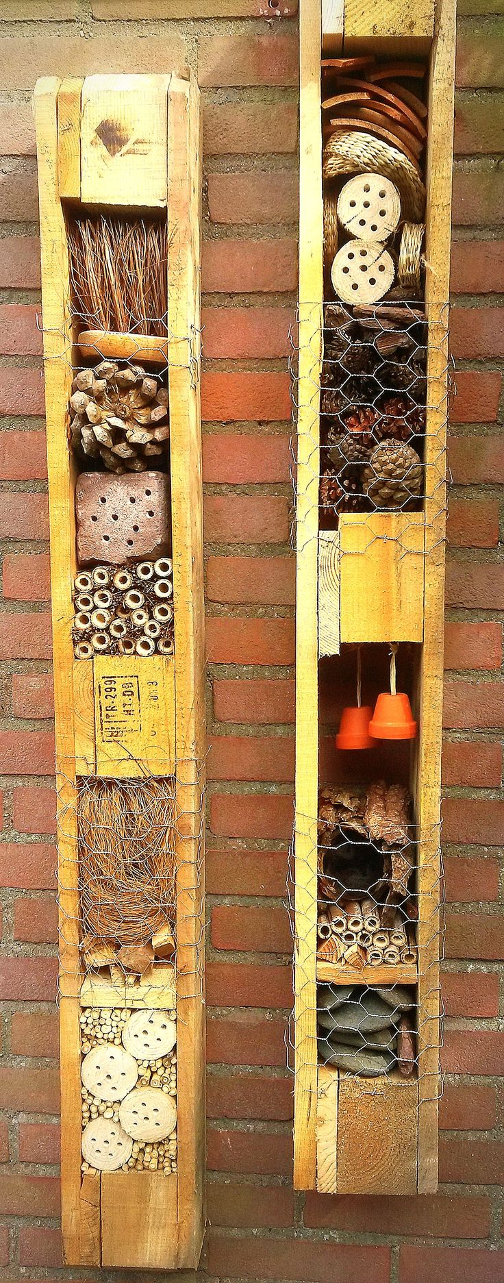 insect hotel from palet for the wildlife area