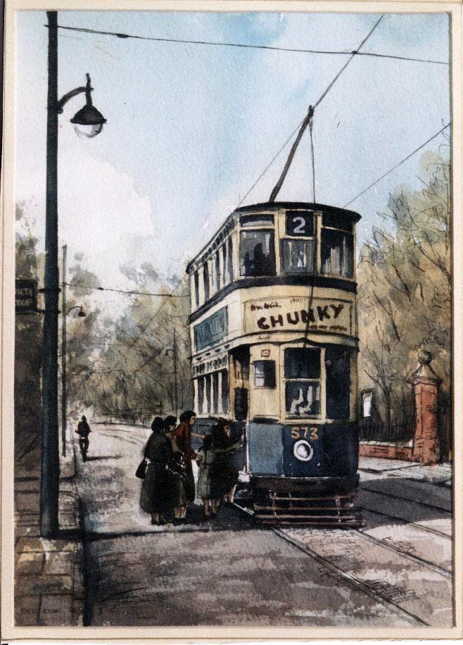 Birmingham tram about 1950