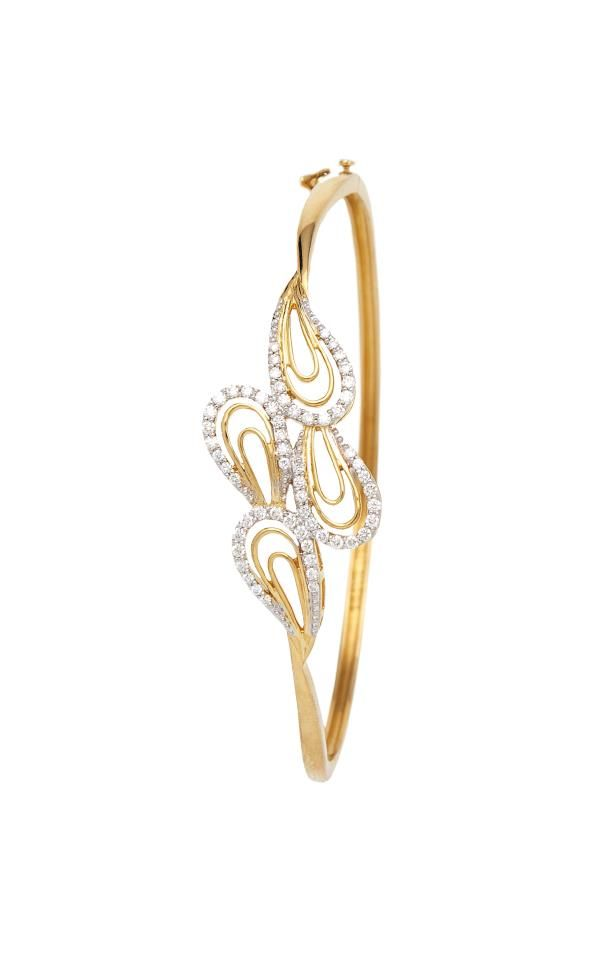 Indian Jewellery and Clothing: Gold and diamond bangles studded with diamonds from Orra diamonds