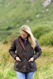 Glandore dry wax jacket on location in #gouganebarra for #leevalleyireland photoshoot