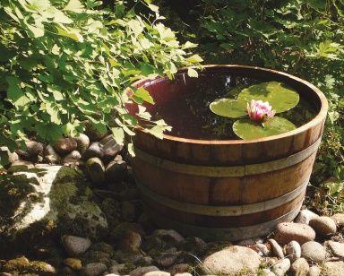 Ein Mini-Teich für die Terrasse - Die 15 besten Wohntipps für den Garten 2 - [SCHÖNER WOHNEN]