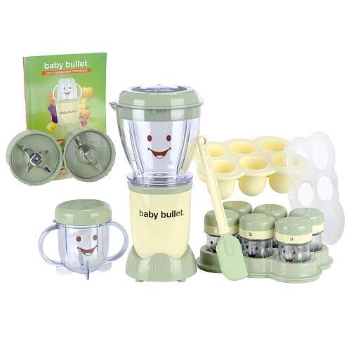 $60, target.com This 20-piece kit includes everything you need to make your own baby food, right down to the spatula. The storage jars have a date dial, so you'll always know what's fresh, and the second milling blade grinds rice, oatmeal and other grains for homemade baby cereals.  - BestProducts.com