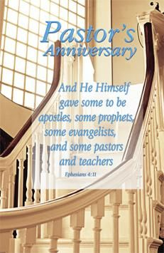 pastor's anniversary program covers | no 9910 bulletin standard size pastor s anniversary ephesians 4 11 niv ...