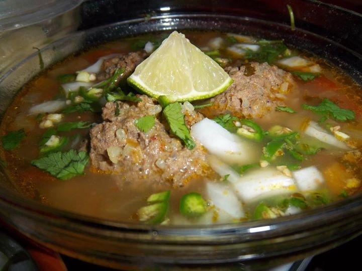Caldo de Albondigas I use Ground Chicken for my meat balls