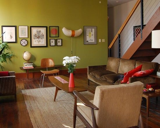 Mid Century Modern Rooms 1318 best wall decor retro vintage mid-century images on pinterest