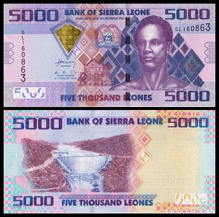 Resultado de imagen de billete de sierra leona 5000 leones