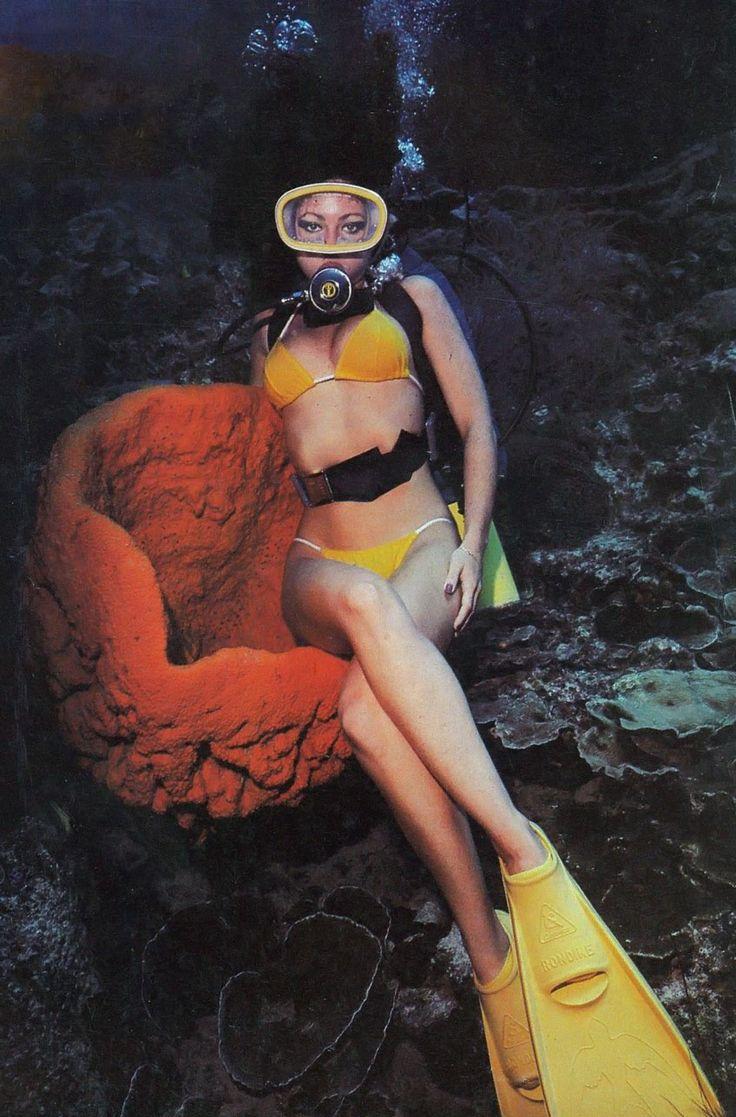 For underwater vintage woman
