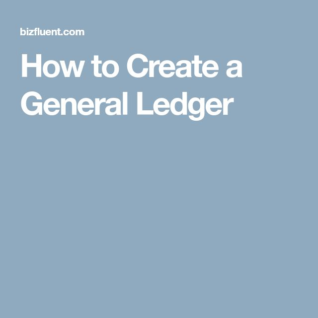 The  Best General Ledger Ideas On   Financial