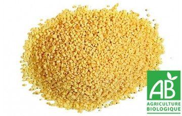 Semoule de Couscous420 grammes  Semoule  certifiée Agriculture Biologique Idéale pour les recettes de couscous ou les salades froides  Sachet de 420 grammes.  Origine : Italie