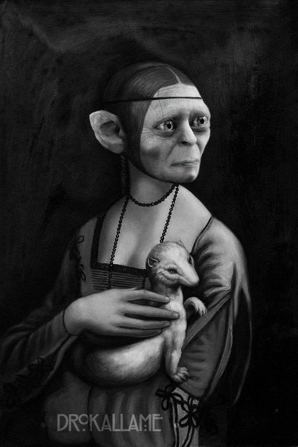 Lady Gollum by Drokallame.deviantart.com on @DeviantArt