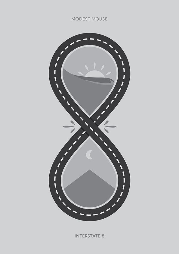 Interstate 8 modest mouse poster on behance i l l u s for Modest mouse tattoo