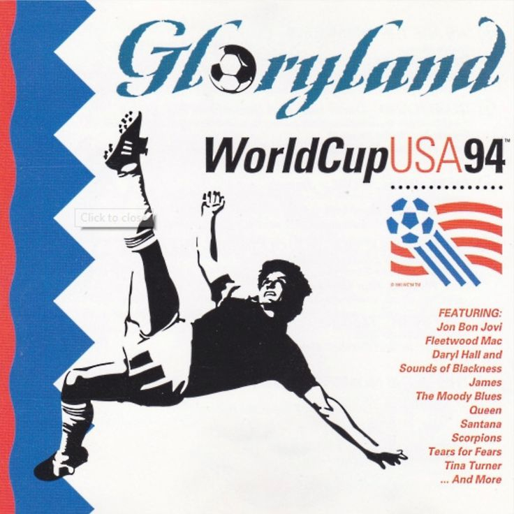 Various Artists - Gloryland Soccer Rocks the Globe: World Cup USA 94 (Europan Edition) (1994) Download: http://dwntoxix.blogspot.com/2016/06/various-artists-gloryland-soccer-rocks_2.html