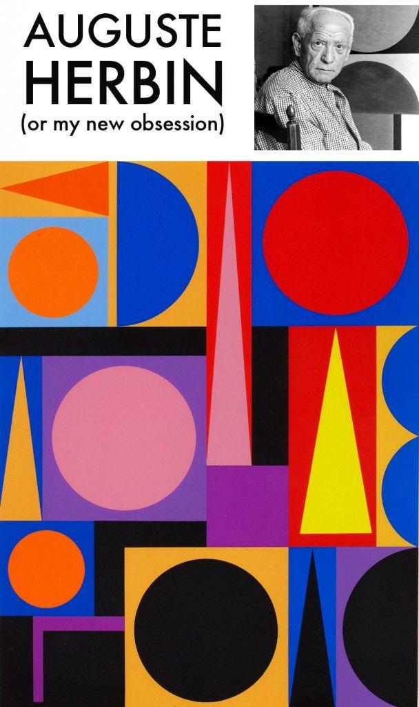 Geometric artwork by Auguste Herbin