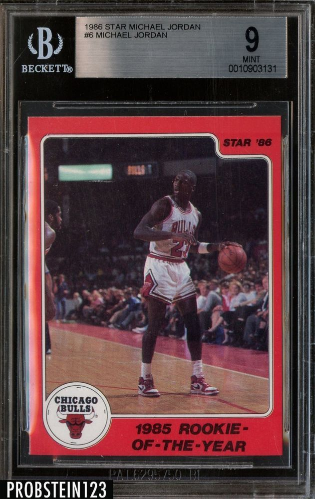 1985 86 Star Michael Jordan Rookie Subset 6 1985 Roy Bgs 9