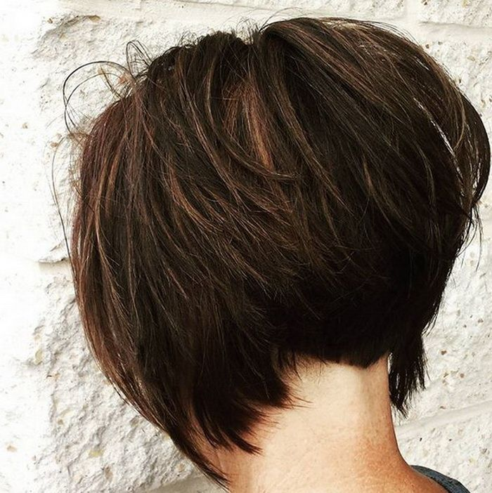 Messy Dramatic Inverted Bob Haircuts 2018-2019 | Hair in ...