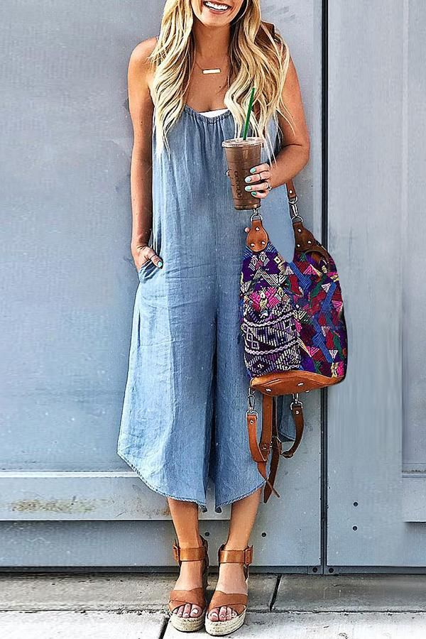 Sexy Slim Thin Jeans Wide Leg Jumpsuit d1f2be576aa9