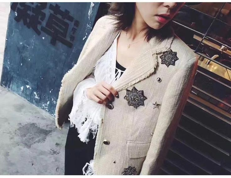 Womens Beaded Tassels Tweed Winter Coat  #men #sweaters #clothing #clothes #scarves #online #jackets #shoping #newyork #shopping