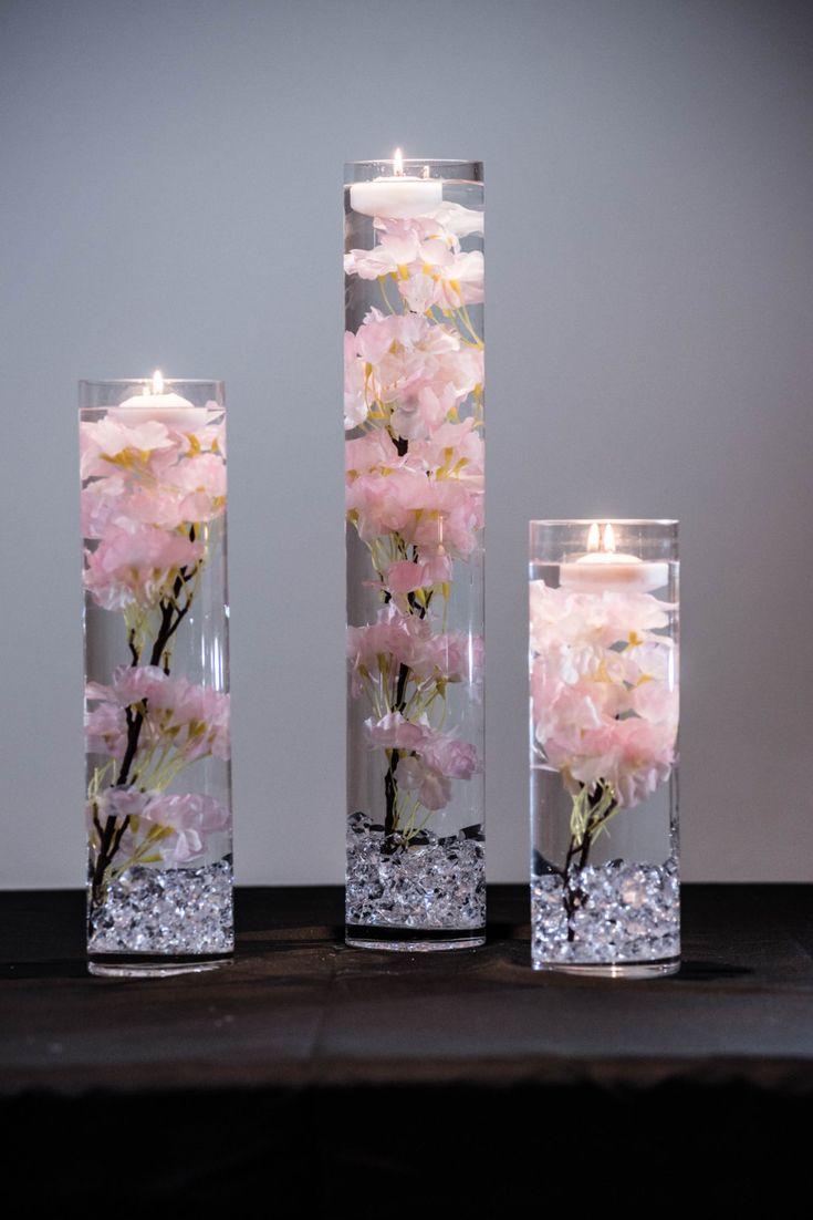 Onderdompelbaar roze, wit, blauw kersenbloesem bloemen bruiloft middelpunt met drijvende kaarsen en acryl kristallen kit Onderdompelbaar roze, wit, blauw kersenbloesem bloemen bruiloft middelpunt met drijvende kaarsen en acryl kristallen kristallen onderdompelbaar roze, wit, blauw kersenbloesem bloemen bruiloft middelpunt met drijvende kaarsen en acrylkristallenset Submer