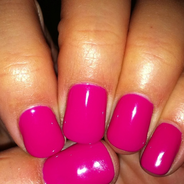 Pink flamingo gel manicure by opi: Nails Nails, Nail Colors, Hair