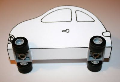 DIY Lego cars & Duplo trucks with your own Lego/Duplo wheels & these printable templates